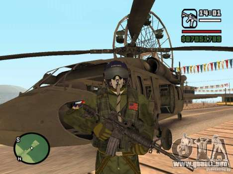 US Air Force para GTA San Andreas segunda pantalla