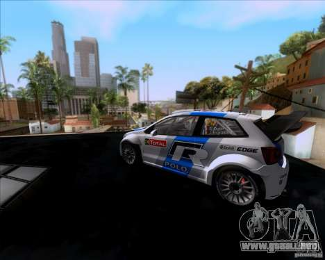 Volkswagen Polo WRC para GTA San Andreas vista posterior izquierda