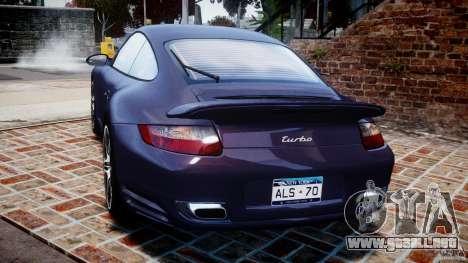 Porsche 911 (997) Turbo v1.1 [EPM] para GTA 4 Vista posterior izquierda