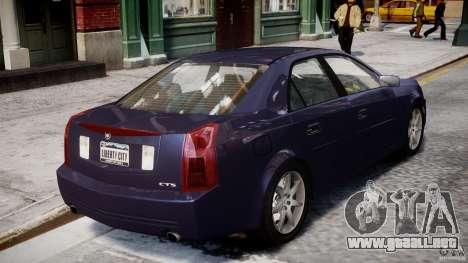 Cadillac CTS para GTA 4 vista superior