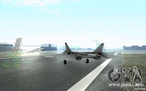 SU t-50 Pak FA para visión interna GTA San Andreas