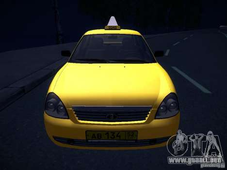 LADA Priora 2170 Taxi TMK Afterburner para la vista superior GTA San Andreas