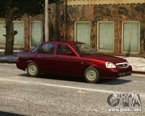 VAZ 2170 Lada Priora para GTA 4 vista desde abajo