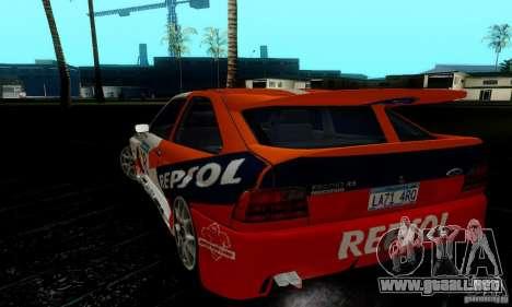 Ford Escort RS Cosworth para visión interna GTA San Andreas