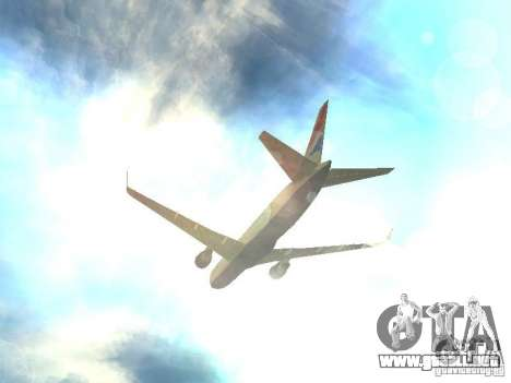 Boeing 767-300 British Airways para la vista superior GTA San Andreas