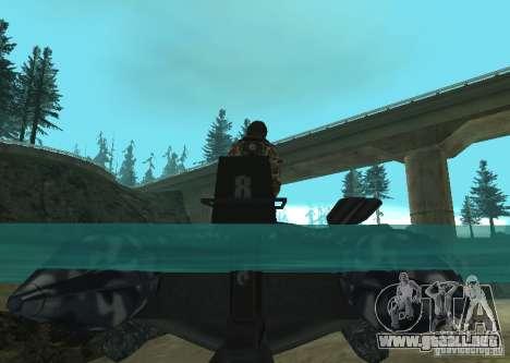 Bote inflable Zodiac para la visión correcta GTA San Andreas