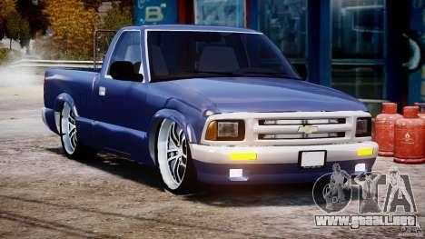 Chevrolet S10 1996 Draggin [Beta] para GTA 4 vista hacia atrás