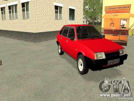 VAZ 2109 v2 para visión interna GTA San Andreas