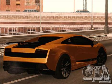 Lamborghini Gallardo Superleggera para GTA San Andreas left