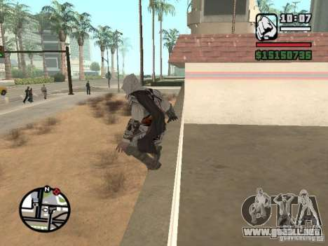 La capacidad de los Assassins Creed para GTA San Andreas sucesivamente de pantalla