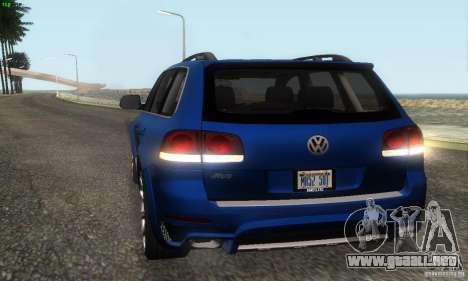 VolksWagen Touareg R50 JE Design Tuning para visión interna GTA San Andreas