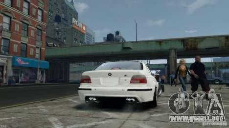 BMW M5 E39 BBC v1.0 para GTA 4 vista hacia atrás