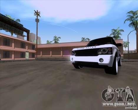 Range Rover Hamann Edition para GTA San Andreas left