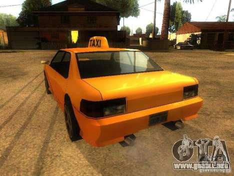 Taxi Sultan para GTA San Andreas vista posterior izquierda