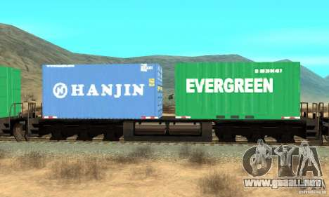 Lokomotive para GTA San Andreas vista posterior izquierda