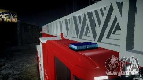 Scania Fire Ladder v1.1 Emerglights blue-red ELS para GTA 4 left