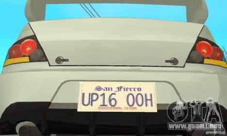 Mitsubishi Lancer Evolution IX para la vista superior GTA San Andreas