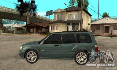 Subaru Forester para GTA San Andreas left