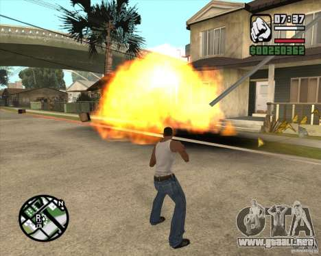 Explosión (versión para portátiles sin teclado n para GTA San Andreas tercera pantalla