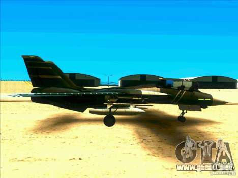 F-14 Tomcat Schnee para GTA San Andreas vista hacia atrás