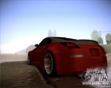 Nissan 350Z AdHoc para la visión correcta GTA San Andreas