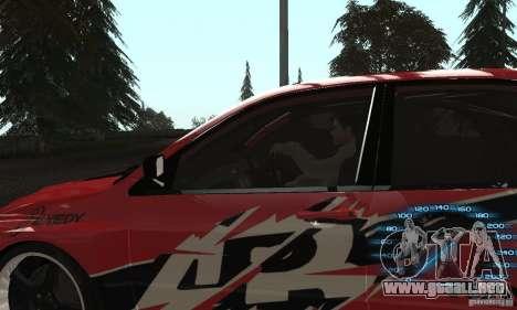 Mitsubishi Lancer IX APR para GTA San Andreas vista posterior izquierda