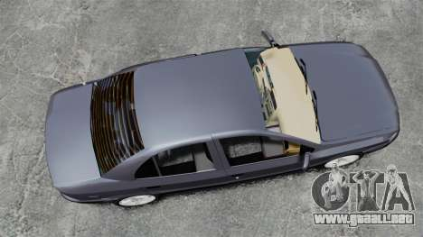 Iran Khodro Samand LX para GTA 4 visión correcta