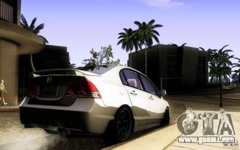 Honda Civic FD BlueKun para GTA San Andreas vista hacia atrás