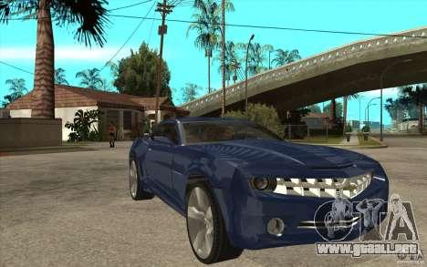 Chevrolet Camaro Concept Tunable para GTA San Andreas vista hacia atrás