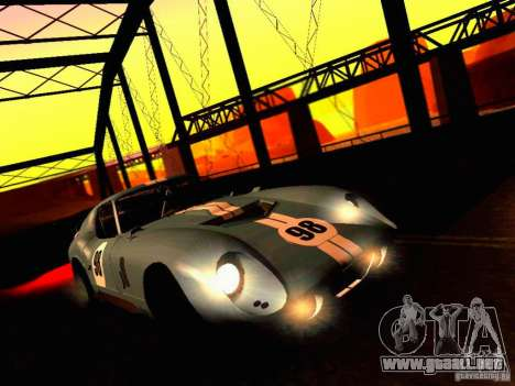 Shelby Cobra Daytona Coupe v 1.0 para vista lateral GTA San Andreas