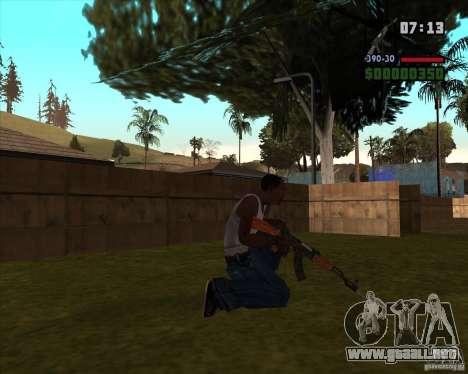 AK-47 con bayoneta para GTA San Andreas segunda pantalla