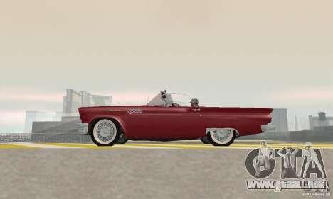 Ford Thunderbird 1957 para GTA San Andreas vista hacia atrás