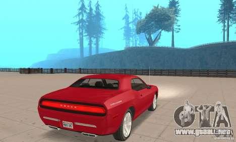 Dodge Challenger 2007 para GTA San Andreas left