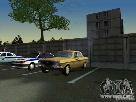 Taxi Volga GAZ 24-10 para la visión correcta GTA San Andreas
