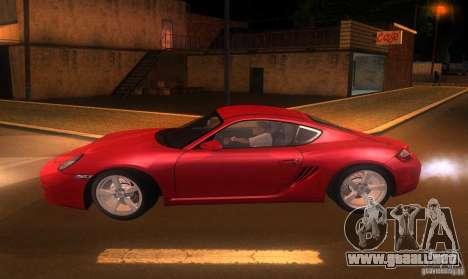 Porsche Cayman S para GTA San Andreas left