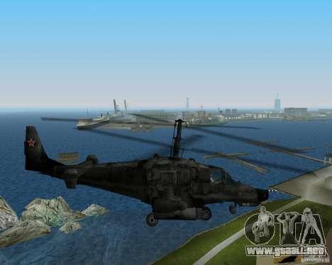 Ka-50 para GTA Vice City vista lateral izquierdo