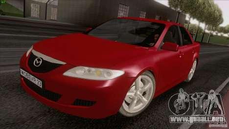 Mazda 6 2006 para la visión correcta GTA San Andreas