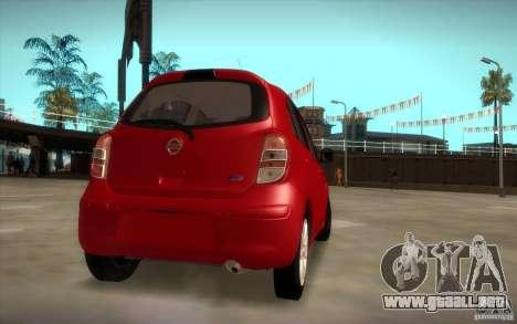 Nissan Micra 2011 para GTA San Andreas left