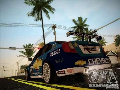 Chevrolet Lacetti WTCC v2 para GTA San Andreas vista hacia atrás