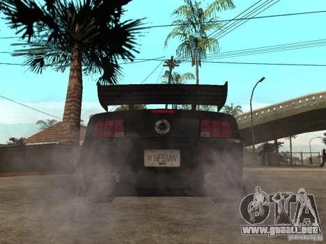 Ford Mustang GT Razor NFS MW para GTA San Andreas vista posterior izquierda
