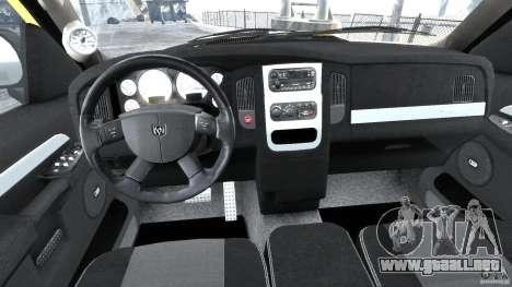 Dodge Ram SRT-10 2003 1.0 para GTA 4 visión correcta