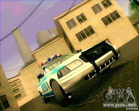 Ford Crown Victoria 2003 NYPD police V2.0 para GTA San Andreas vista hacia atrás