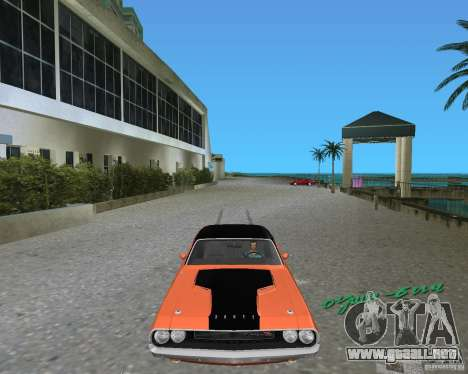 1970 Dodge Challenger R/T Hemi para GTA Vice City left