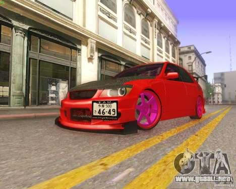 Toyota Altezza Drift Style v4.0 Final para la vista superior GTA San Andreas