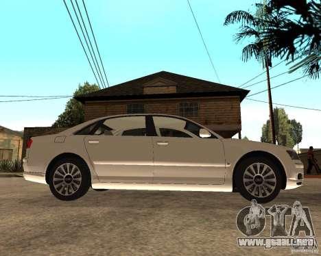 Audi A8 2003 para la visión correcta GTA San Andreas