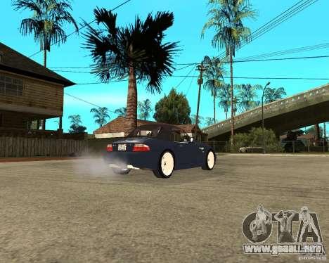 BMW Z3 Roadster para GTA San Andreas vista posterior izquierda