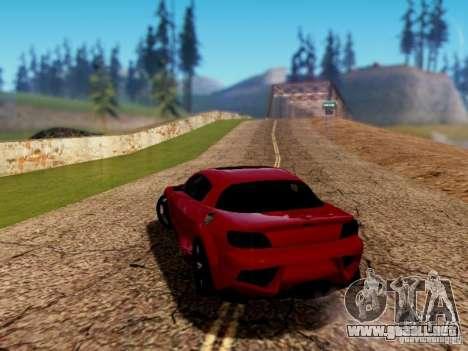 Mazda RX8 Reventon para GTA San Andreas left