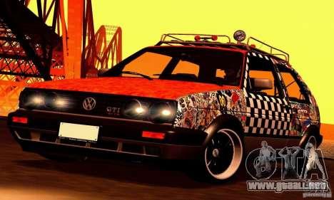 Volkswagen MK II GTI Rat Style Edition para GTA San Andreas vista hacia atrás