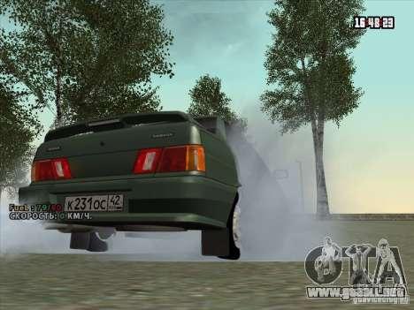VAZ 2115 drenaje para la visión correcta GTA San Andreas