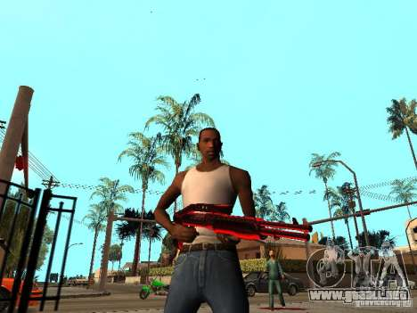 Red Chrome Weapon Pack para GTA San Andreas sucesivamente de pantalla